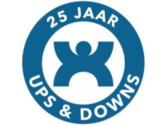 Logo ups&downs 25 jaar